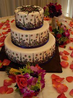 Mehendi style cake