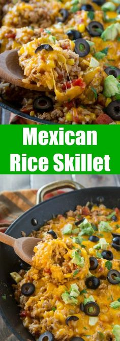Mexican food recipes 197032552436118919 - This Mexican rice skillet is a one pot meal you'll make again and again. Especially because you can make it in under 30 minutes! Source by tammi_roy Mexican Rice Skillet Recipe, Mexican Rice Recipes, Rice Recipes For Dinner, Mexican Dishes, Fiesta Rice Recipe, Vegetarian Mexican Rice, Mexican Meals, One Skillet Meals, One Pot Meals