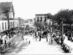 Washington y Colegio Civil, 30 de Agosto de 1909 después de la inundación