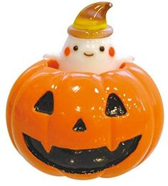 Falkert Interior/Figurine Object Cute Handmade Glass Work Halloween Pumpkin gobs