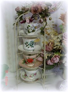 vintage tea cup collection