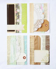 The Creative Place: paper scrapping | Using small bits of leftover paper