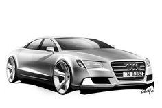 Audi a8 concept sketch
