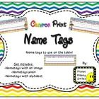 This set includes a variety of nametags that you can print for your students. You can write the student's first name or first/last name on them. Th...