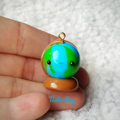 #kawaii #charms #polymer #clay #world #globe