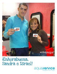 ¡Felicidades, Sandra! Gracias a su frase, Sandray su repartidor de Aquaservice, Israel, han ganado una de nuestras tarjetas para disfrutar en Decathlon. ¡Enhorabuena!