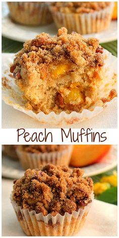 Moist and Delicious Peach Muffins with Crumb Topping for breakfast, a snack or a special treat for the office. Your going to love them! via @Bunny\\\\\\\\\\\\\\\\\\\\\\\\\\\\\\\\\\\\\\\\\\\\\\\\\\\\\\\\\\\\\\\\