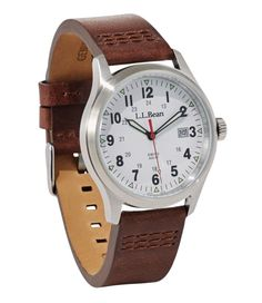 Find the best Katahdin Field Watch at L. Our high quality Men's Accessories are thoughtfully designed and built to last season after season. Field Watches, Accessories Store, Vintage Watches, Stainless Steel Case, Kids Board, Mens Fashion, Leather, Tools, Inspired