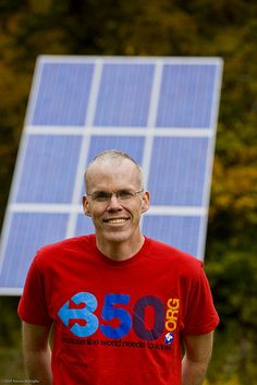 "Bill McKibben wrote the first public-aimed book on climate change, went on to write 12 books in total, founded 350 which organized 15,000 climate actions since 2009, and was called ""probably the world's leading environmentalist"" by the Boston Globe in '10. AKA, he's a true boss and inspiration - check out 350-dot-org to get involved and find the answer to...what the heck does 350 mean?! PC: Nancie Battaglia."