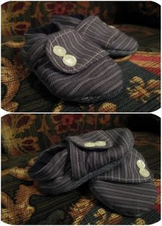 These were designed for babies but I'm sure I could make my older boys house slippers using the same concept. Christmas gift idea!