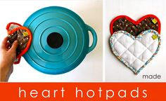 Heart Hotpads tutorial – the proper way and the cheating way to sew on Bias Tape   MADE (dana-made-it.com, made, made blog, dana made it, dana willard)