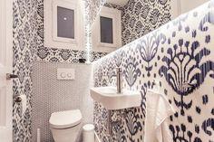 Wall decor, bathroom, wallpaper