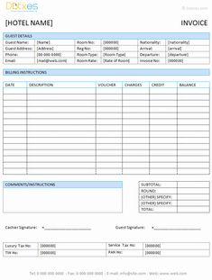 hotel bill format in word document Hotel Invoice Template Invoice Layout, Invoice Example, Invoice Format, Microsoft Word Invoice Template, Printable Invoice, Templates Printable Free, Word Templates, Report Card Template, Receipt Template