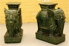 pair vintage elephant garden seat furniture