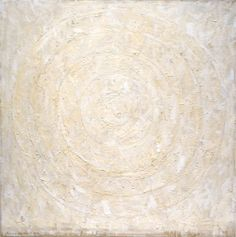 Jasper Johns ~ White Target, 1958 (encaustic and collage on canvas)