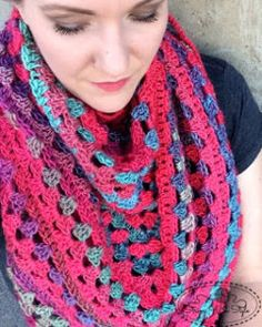 Granny Stitch Triangle Scarf by String With Style: FREE crochet pattern