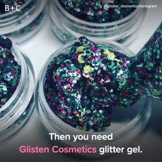 Glisten cosmetics make the nest thing ever. Glitter make up gel Diy Beauty, Beauty Makeup, Beauty Hacks, Beauty Care, Beauty Tips, Diy Makeup, Makeup Tips, Makeup Videos, Makeup Set