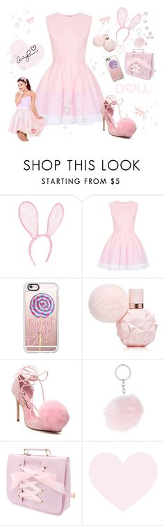 """♡ Sweet Like Candy BubbleGum Pink Look #2 ♡"" by kaylalovesowls ❤ liked on Polyvore featuring LULU, Topshop, Casetify and Privileged"