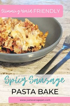 A tasty Slimming World Spicy sausage pasta bake using amazing Garofalo pasta shapes which are full of flavour, syn free and a perfect Slimming World dinner. Cook Sausage In Oven, Spicy Sausage Pasta, Baked Pasta Recipes, Baking Recipes, Cheap Family Meals, Speed Foods, Pasta Shapes, Low Calorie Recipes, Other Recipes
