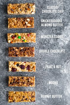 7 homemade granola bars that are perfect for meal prep or lunch boxes! Naturally sweetened, perfectly chewy, and prepped in minutes.