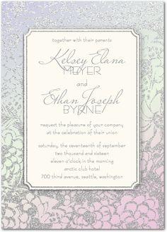 Wedding paper diva's - Incandescent Joy Wedding Invitations (Orchid)