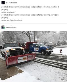 Confused applause porn hub snow plow