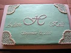 Bridal Shower Cake idea with initial and date