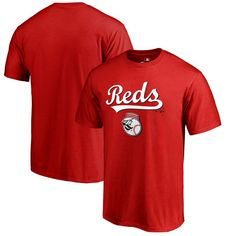 Cincinnati Reds Fanatics Branded Team Lockup T-Shirt - Red