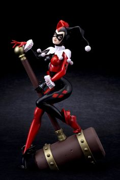 Kotobukiya has recently announced that Harley Quinn is joining the DC Bishoujo statue collection, with Batgirl, Catwoman and Poison Ivy already being released. Description from ohnotheydidnt.livejournal.com. I searched for this on bing.com/images