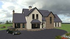 dorm141 Dormer House, Dormer Bungalow, House Designs Ireland, Self Build Houses, Ireland Homes, Large Family Rooms, Sims 4 Houses, New Builds, Open Plan
