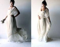 Bohemian Wedding dress, Boho wedding dress, Hippie wedding dress, Grecian wedding dress, Alternative wedding dress, Long silk wedding dress by larimeloom on Etsy https://www.etsy.com/listing/198301503/bohemian-wedding-dress-boho-wedding