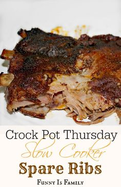 These crockpot spare ribs can honestly pass for ribs from the BBQ. My husband was shocked by this crockpot rib recipe!