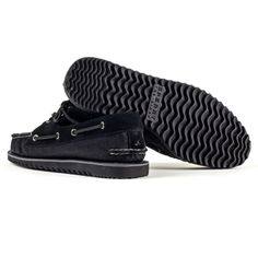Sperry Top-Sider Black Razorfish Boat Shoes