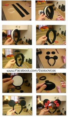 diy minnie mouse headband for party or costume