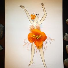 #inspirationfloral #inspiration #floral #drawing #sketch #flower #realflower #poppies #orange #oranepoppies #spring #beautiful #smell #flamingo #dance #flamingodance #dancer #illustration #imagination #art #artwork #painting #woman #free #fashion #dress #designer #Vancouver #vancity360 #vancitybuzz