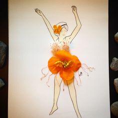 #inspirationfloral #inspiration #floral #drawing #sketch #flower #realflower #poppies #orange #oranepoppies #spring #beautiful #smell #flamingo #dance #flamingodance #dancer #illustration #imagination #art #artwork #painting #woman #free #fashion #dress #designer #Vancouver #vancity360 #vancitybuzz