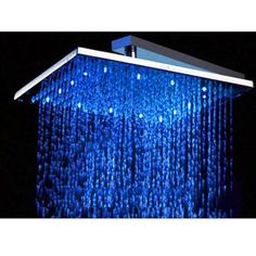 "12"" Square Multi Color Led Rain Shower Head"