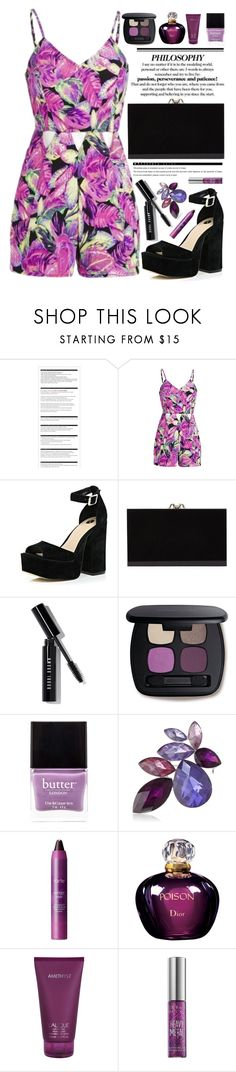 """""""Pure poison"""" by chloe ❤ liked on Polyvore featuring Arche, River Island, Charlotte Olympia, Bobbi Brown Cosmetics, Bare Escentuals, Butter London, Anne Klein, tarte, Christian Dior and Lalique"""