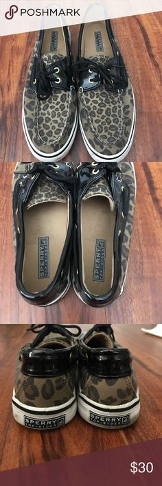 Sperry Top Sliders Leopard Sperry Top Sliders. Worn a handful of times and are in great condition! Sperry Top-Sider Shoes Espadrilles