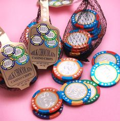 Unique Chocolate Casino Chips in a Bag available at fabulous prices! Click or call us toll-free Our company offers bride's the most up-to-date las vegas wedding favor ideas from stylish casino chips to high quality merchandise that are nev Vegas Wedding Favors, Casino Wedding, Las Vegas Weddings, Party Favors, Vegas Themed Wedding, Wedding Gifts, Las Vegas Party, Casino Night Party, Casino Theme Parties