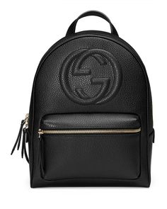 Gucci Soho Leather Chain Backpack, Black