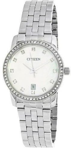Citizen Women's EU6030-56D Silver Stainless-Steel Quartz Fashion Watch