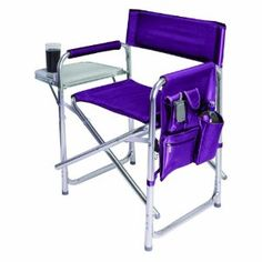 Buy the Picnic Time Sports Chair at eBags - You'll have a comfortable place to sit no matter where you go with this convenient portable chair fr Lawn Chairs, Outdoor Chairs, Outdoor Furniture, Outdoor Decor, Picnic Chairs, Camping Furniture, Outdoor Stuff, Outdoor Fun, Folding Camping Chairs