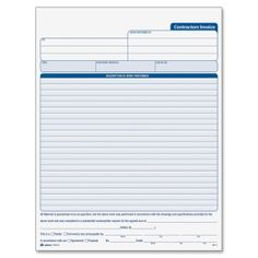 Ridiculous image with free printable contractor invoice