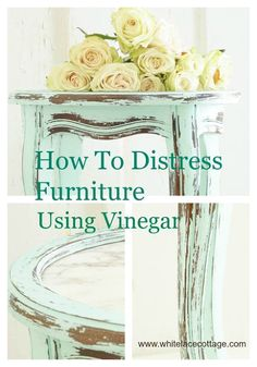 How To Distress Furniture Using Vinegar - I have been painting pieces of furniture for many years.But only started using a chalk based paint for the last three…
