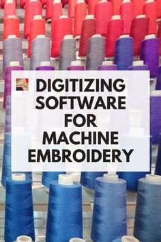 Excellent resource for digitizing software for machine embroidery. Included are reviews, software links, and tutorials. Fun Projects, Sewing Projects, Fun Crafts, Crafts For Kids, Machine Embroidery Projects, Types Of Craft, Project Yourself, Needlework, Software