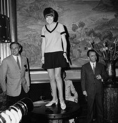 """Miniskirt, Mary Quant, London, Mid-Sixties: Some say Mary Quant set London swinging way back in 1955 when she opened her clothing shop Bazaar with then-boyfriend Alexander Plunket Greene and Archie McNair. Though André Courrèges and Jean Varon also showed short skirts, it was Quant's abbreviated designs that popularized the mini in the mid-sixties. Quant, who had the advantage of being her clients' contemporary, credits her customers with raising hemlines """"'shorter, [and] shorter.'"""""""