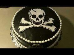 Birthday Cake Pictures, Amazing Cakes, Skull, Black And White, Google Search, Black N White, Black White, Skulls, Sugar Skull