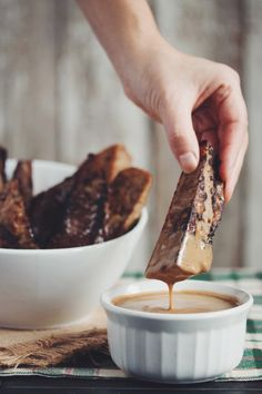 vegan gingerbread french toast sticks | RECIPE by hot for food