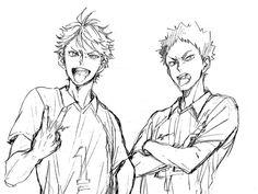 Oikawa and Iwaizumi